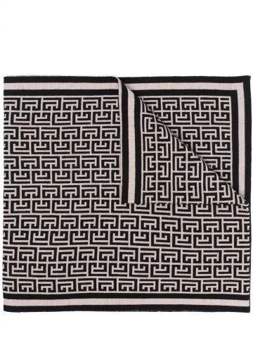 Monogram wool scarf