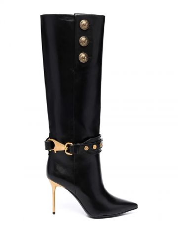 Black leather Robin boots