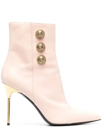 Roni beige leather ankle boots
