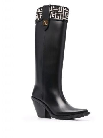 Black rubber Tess boots