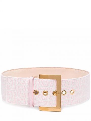 Wide bicolor jacquard B-Classic belt
