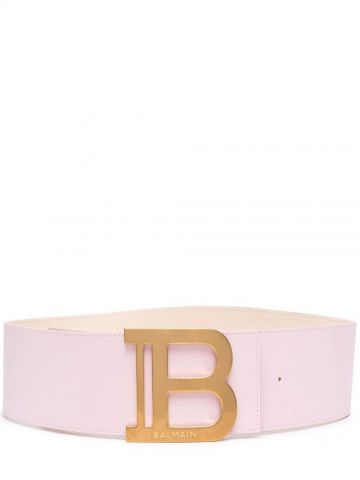 Pink leather B-Belt belt