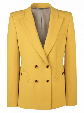 Yellow Belle Blonde double-breasted blazer