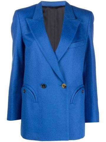 Blue Palmira everynight double-breasted blazer jacket