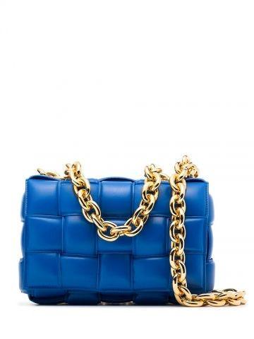 Blue Chain Cassette bag
