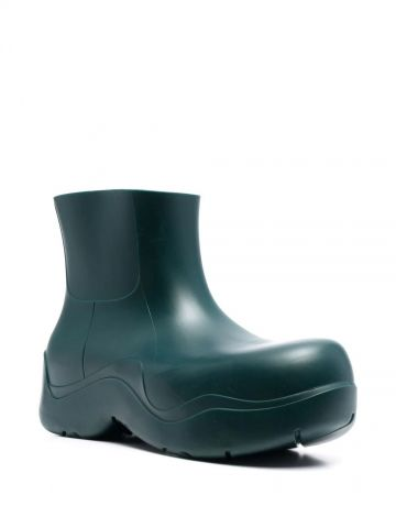 Green biodegradable rubber Puddle ankle boots