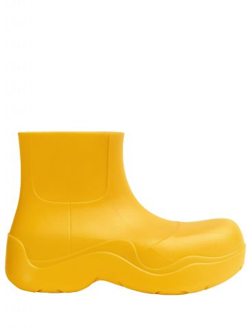 Yellow biodegradable rubber Puddle boots