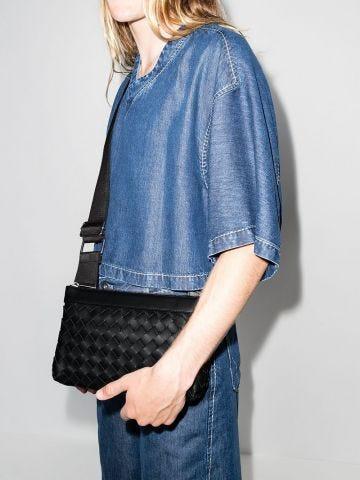 Black Classic Intrecciato leather cross-body bag