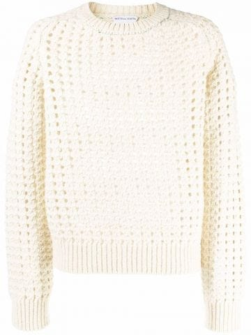 White perforated sweater
