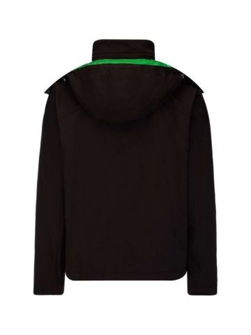 Brown Technical stretch nylon jacket
