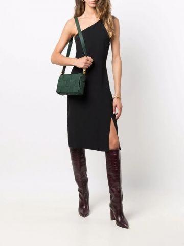 Intreccio Cassette grained leather cross-body bag