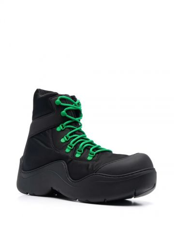 Black Puddle Bomber boots