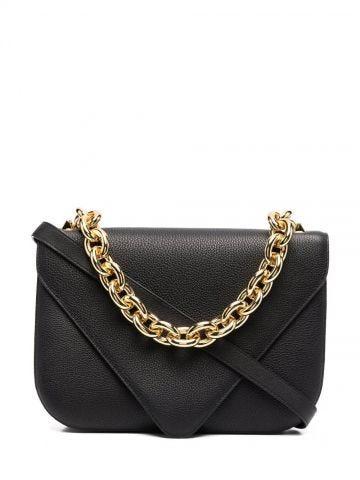 Black leather envelope Mount bag
