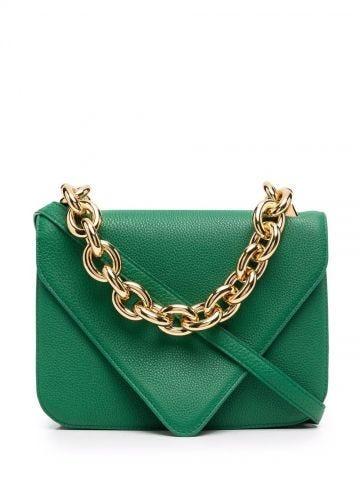 Green leather envelope Mount bag