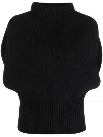 Black medium weight shetland sweater