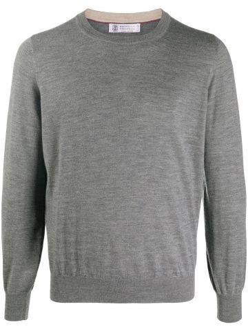 Grey regular cut sweater