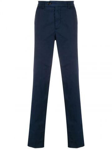 Blue Chino pants with medium waist