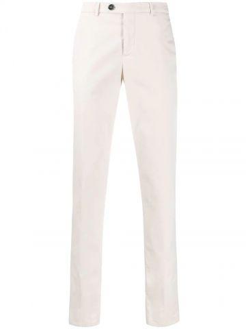 White slim chino pants
