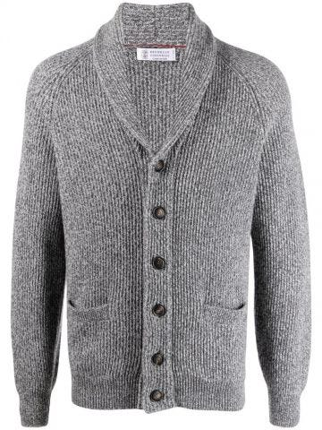 Grey buttoned cardigan