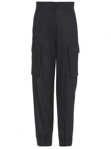 Blue cashmere pants