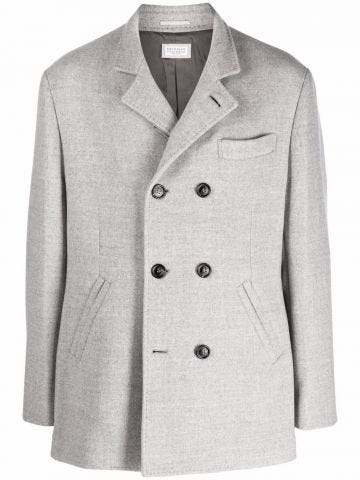 Grey double-breasted coat