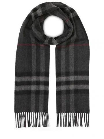 Classic check cashmere scarf