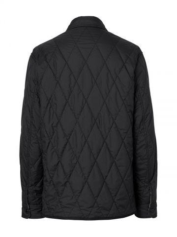 Black Reversible Quilted Vintage Check Cotton Overshirt