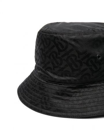 Black Monogram Jacquard Bucket Hat
