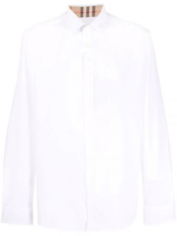 White embroidered logo shirt