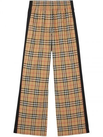 Beige high-waisted trousers