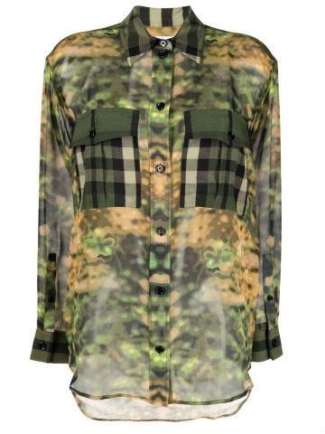 Vintage Check camouflage-print shirt