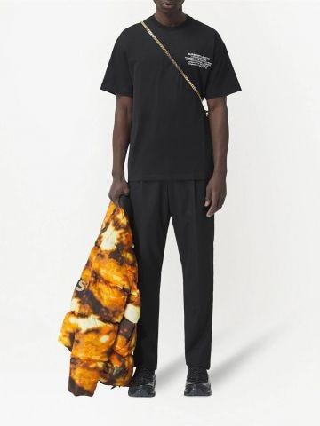 Black t-shirt with print