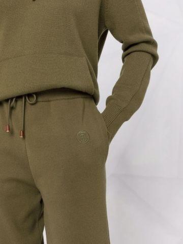 Green Monogram Motif wool cashmere blend jogging pants