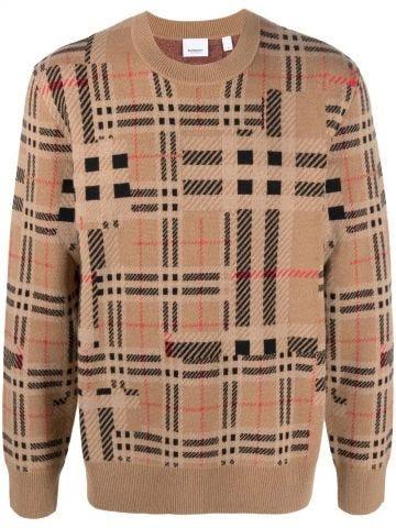 Beige plaid sweater