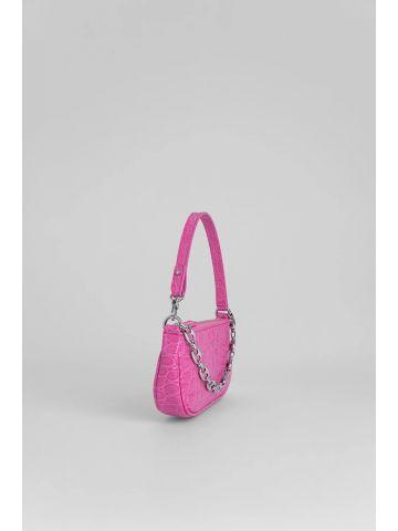 Mini Pink Rachel Croco Embossed Leather