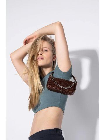 Mini Nutella Rachel Croco Embossed Leather