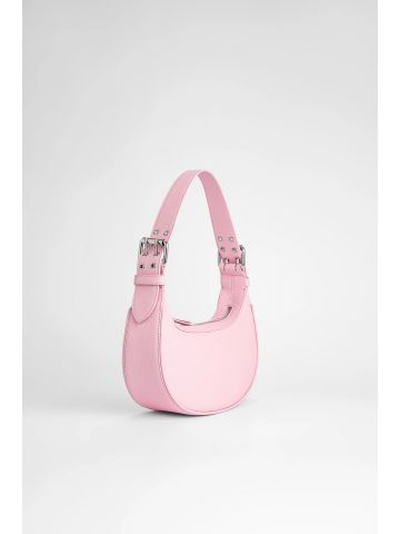 Pink grained leather Soho bag
