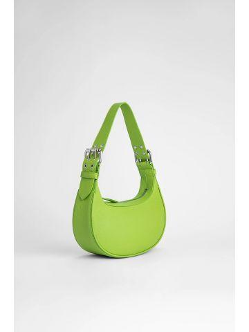 Pistachio grained leather Soho bag