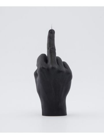 Black hand gesture candle F*ck you