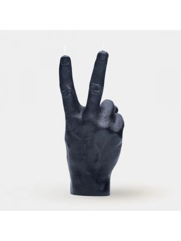 Black hand gesture candle Victory