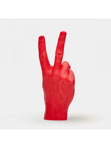 Red hand gesture candle Victory