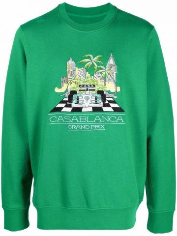 Green Casablanca print sweatshirt