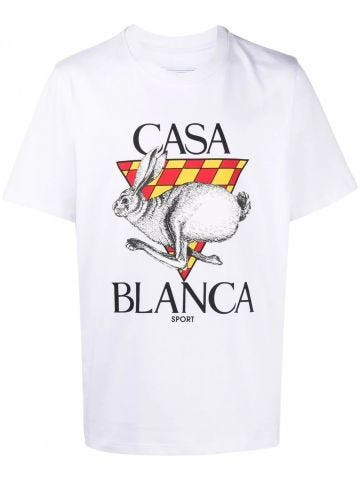 White logo-print organic cotton T-shirt