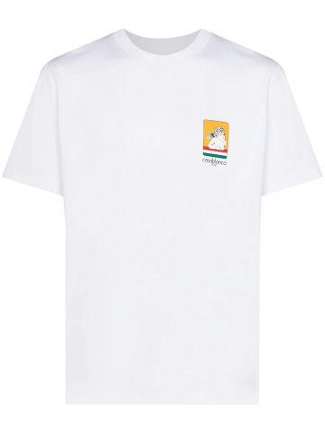 White Racing Cherub cotton T-shirt