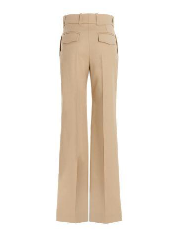 Pantalone gamba ampia beige