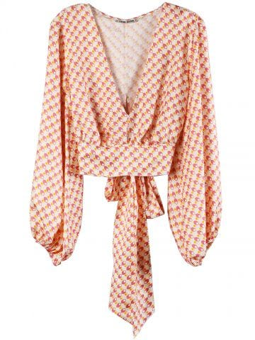 Fausta Pink Scarf Top