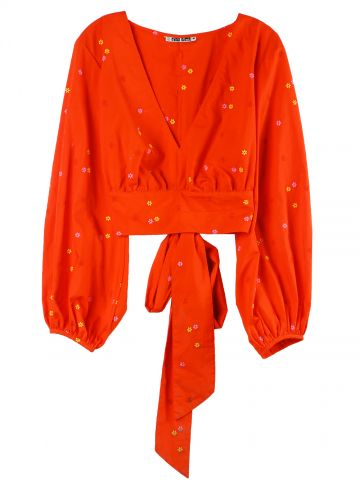 Red Fausta Poppy shirt