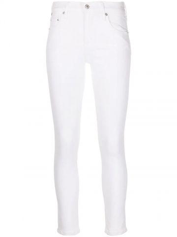White Rocket high-waisted skinny jeans