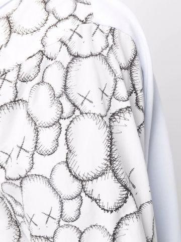 White oversized zip-up sweatshirt