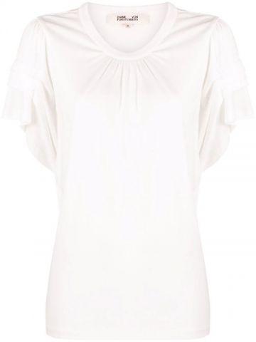 WhiteT-shirt with ruffles